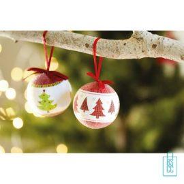 Kerstbal geschenk kerstboom rood bedrukken sfeer, kerst relatiegeschenken