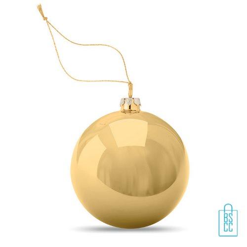 Kerstbal klassiek goedkoop bedrukken gold, kerst relatiegeschenken