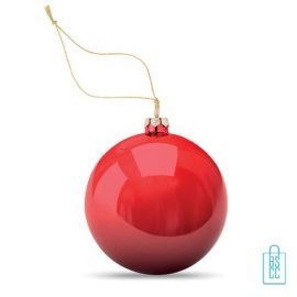 Kerstbal klassiek goedkoop bedrukken red, kerst relatiegeschenken