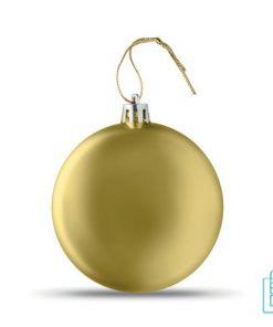 Kerstbal vlak bedrukken gouden