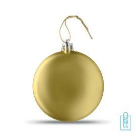 Kerstbal vlak bedrukken gouden, kerst relatiegeschenken