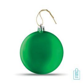 Kerstbal vlak bedrukken groen, kerst relatiegeschenken