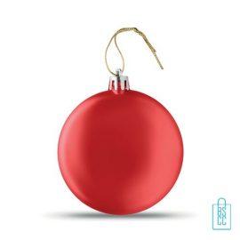 Kerstbal vlak bedrukken rood, kerst relatiegeschenken