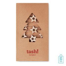 Kerstboom stervormige lichtjes bedrukt kerstlampjes duurzaam logo