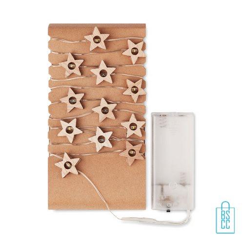 Kerstboom stervormige lichtjes bedrukt kerstlampjes uitgepakt