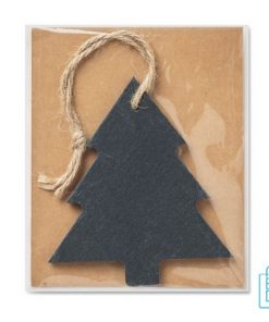 Kerstboomhanger kerstboom bedrukken leisteen