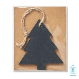 Kerstboomhanger kerstboom bedrukken leisteen, kerst relatiegeschenken