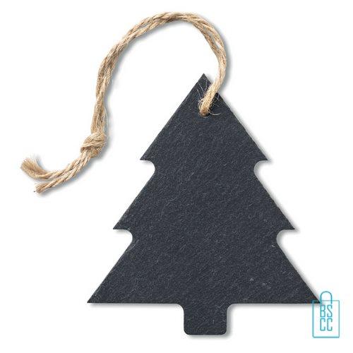 Kerstboomhanger kerstboom bedrukt leisteen, kerst relatiegeschenken