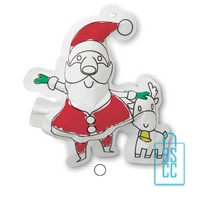 Kleurplaat kerstman bedrukken kerstgeschenk