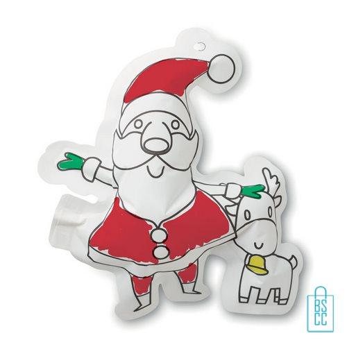 Kleurplaat kerstman bedrukken kinder, kerst relatiegeschenken