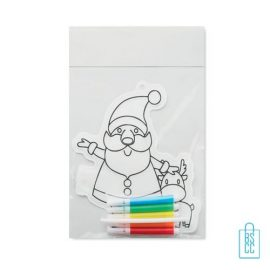 Kleurplaat kerstman bedrukt, kerst relatiegeschenken