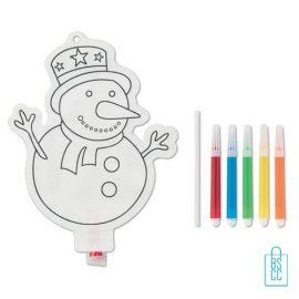 Kleurplaat sneeuwpop kinderen bedrukken kinder, kerst relatiegeschenken