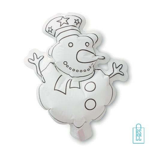 Kleurplaat sneeuwpop kinderen bedrukken, kerst relatiegeschenken