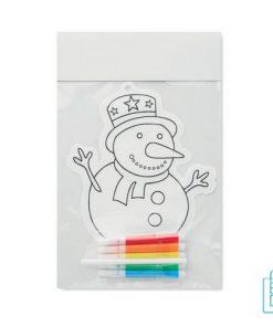 Kleurplaat sneeuwpop kinderen bedrukt