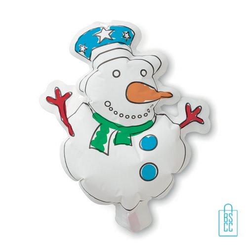 Kleurplaat sneeuwpop kinderen bedrukt met logo, kerst relatiegeschenken