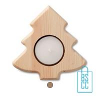 Theelichthouder kerstboom hout bedrukken goedkoop