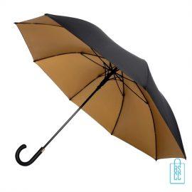 Golfparaplu GP-68 zwart goud, paraplu goedkoop
