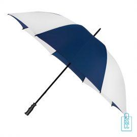 Golfparaplu bedrukken GP-4 blauw wit, paraplu goedkoop