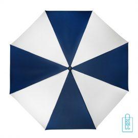 Golfparaplu bedrukken GP-4 blauw wit doek
