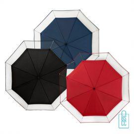 Opvouwbare paraplu LF-140 assorti, paraplu goedkoop bedrukken