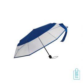 Opvouwbare paraplu LF-140 assorti blauw, paraplu goedkoop bedrukken