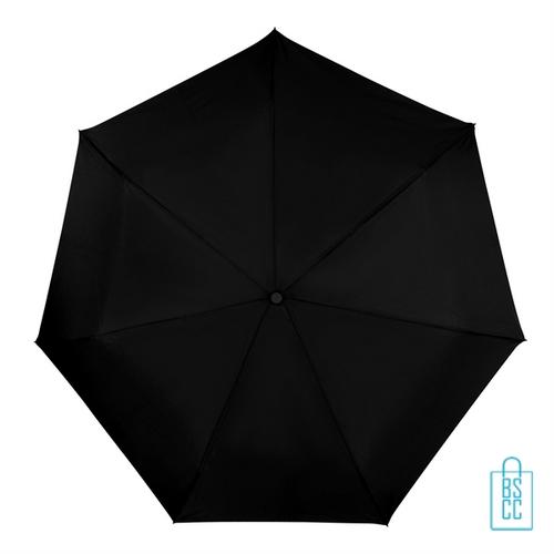 Opvouwbare paraplu LGF-403 zwart doek, paraplu goedkoop bedrukken