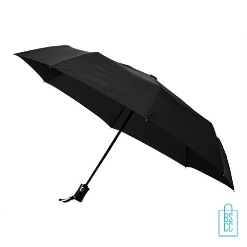 Opvouwbare paraplu LGF-403 zwart, paraplu goedkoop bedrukken