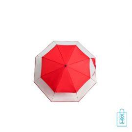 Opvouwbare paraplu bedrukken LF-140 transparant rood doek