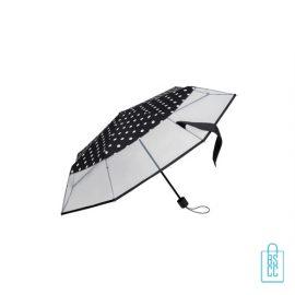 Opvouwbare paraplu bedrukken LF-141 zwart witte stippen semi transparant