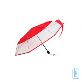 Opvouwbare paraplu bedrukt LF-140 assorti rood, paraplu goedkoop bedrukken