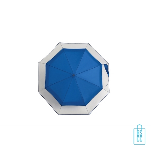 Opvouwbare paraplu bedrukt LF-140 transparant blauw doek
