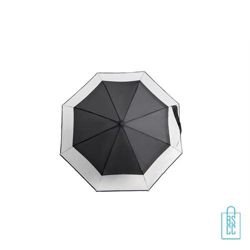Opvouwbare paraplu laten bedrukken LF-140 transparant zwart doek