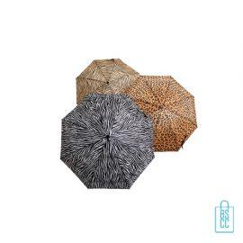 Paraplu bedrukken GA-309 ASS dierenprint open, paraplu goedkoop