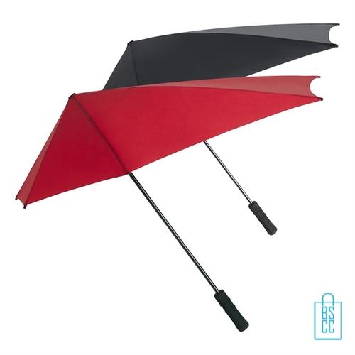 Stormparaplu bedrukken ST-20-ASS rood zwart