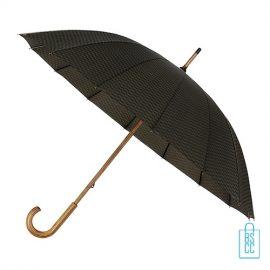 Paraplu GR-441-ASS goedkoop met houten haak bruin geblokt
