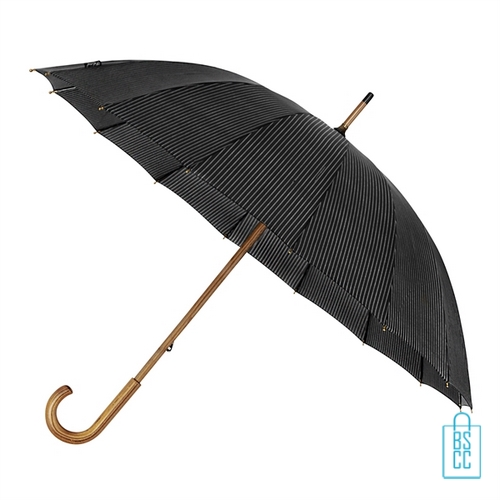 Paraplu GR-441-ASS goedkoop met houten haak strepen