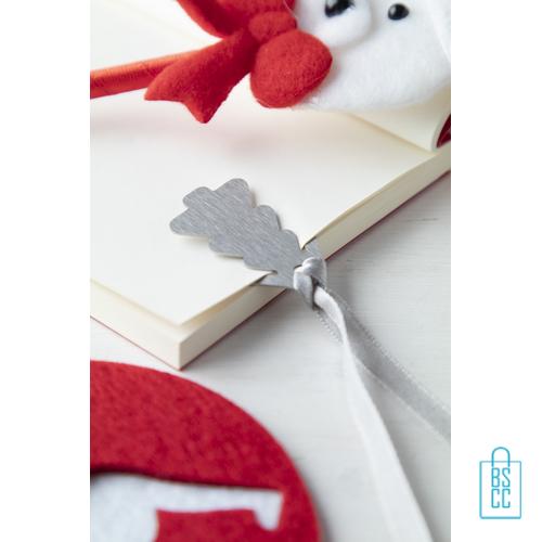 Cadeaukaart kerst boekenlegger bedrukken sfeerbeeld, goedkope kerst promo