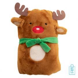 Fleeceplaid rendier kerstman kerstgeschenk, kerst relatiegeschenken