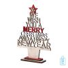 Houten decoratie kerstboom, kerst relatiegeschenken