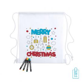 Kerst kinderrugzakje waskrijt divers Merry Christmas, kerst relatiegeschenken