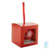Kerstbal glans rood sneeuwvlok geschenk, kerst relatiegeschenken