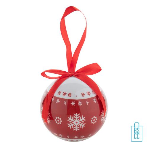 Kerstbal glans rood sneeuwvlok relatiegeschenk, kerst relatiegeschenken