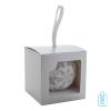 Kerstbal parelmoer sneeuwvlok zilver giftbox, kerst relatiegeschenken