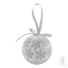 Kerstbal parelmoer sneeuwvlok zilveren, kerst relatiegeschenken