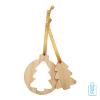 Kerstboomhanger bamboe 3D, kerst relatiegeschenken