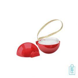 Lippenbalsem kerstbal bedrukt, kerstgeschenken bedrukken