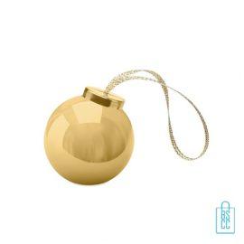 Lippenbalsem kerstbal bedrukt met logo goud, kerstgeschenken bedrukken