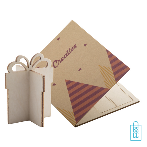 Papieren kerstkaart op maat creatief kado