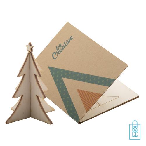 Papieren kerstkaart op maat creatief kerstboom, kerstgeschenken bedrukt