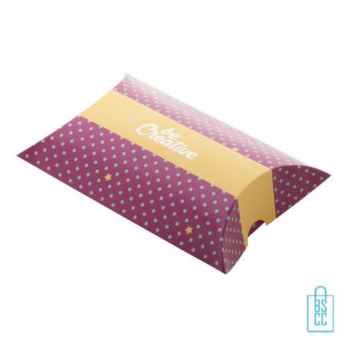 Pillow box bedrukken M, kerstgeschenken bedrukt